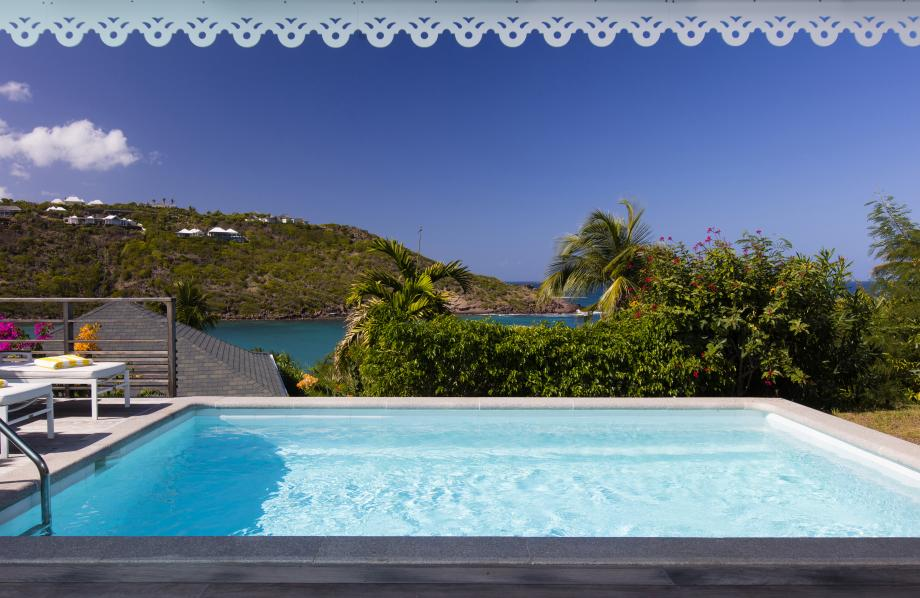 Chambre Vue Baie Marigot avec piscine