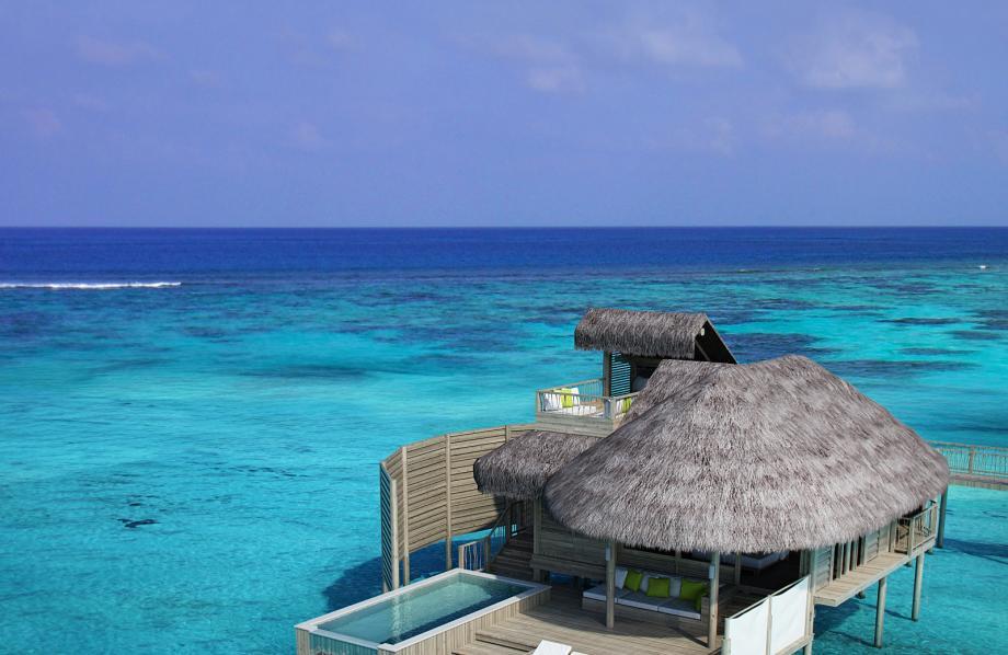 Laamu Water Villa avec piscine